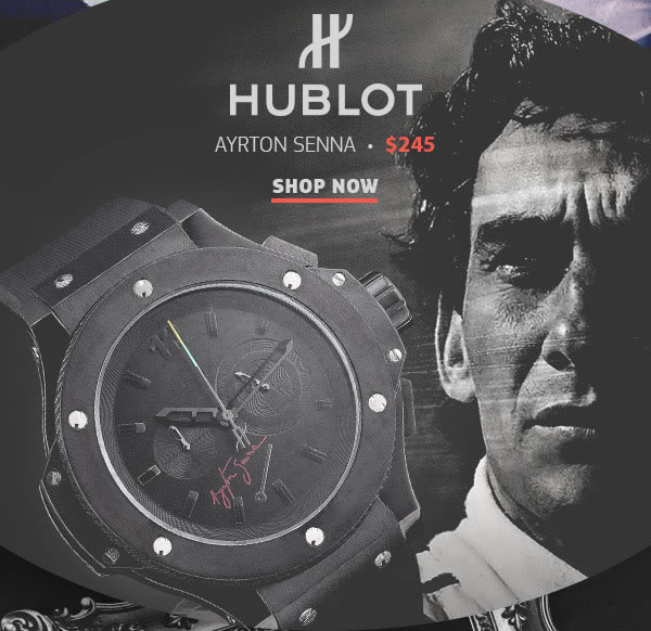 Hublot Ayrton Senna Replica Ferrari Watch