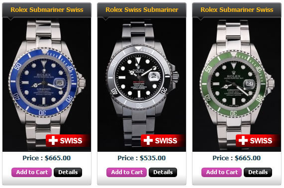 rolex submariner swiss made